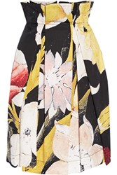 Vivienne Westwood Anglomania Cristos Floral Print Pleated Cotton Skirt Black