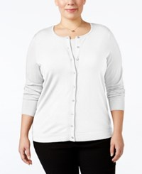 August Silk Plus Size Blend Cardigan Cotton Ball
