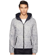 Duvetica Dragotre Hooded Reversible Light Down Jacket Fiore Tropicale Men's Coat Gray