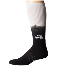 Nike Fade Graphic Crew Sock Black White White Crew Cut Socks Shoes