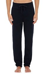 Hamilton And Hare Men's Luxe Waffle Knit Lounge Pants Navy