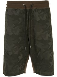 Loveless Camouflage Shorts Green