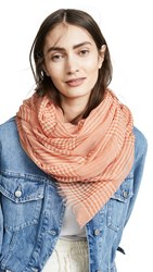 Free People Jessa Gingham Scarf Orange