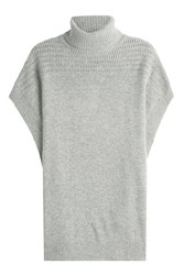 Velvet Cashmere Short Sleeved Cape Pullover Grey