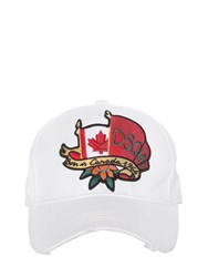 Dsquared Canadian Flag Canvas Baseball Cap