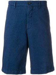 Ermenegildo Zegna Knee Length Fitted Shorts Blue