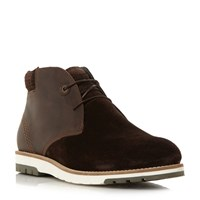 Barbour Heppel Mixed Material Chukka Boot Brown