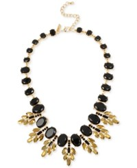 Inc International Concepts Crystal Oval Clusters Statement Necklace Only At Macy's Black