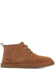 Ugg Mini Classic Shearling Lace Up Boots Brown