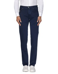 Luigi Borrelli Napoli Trousers Casual Trousers Men Dark Blue