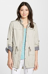 Women's Levi's Lightweight Cotton Hooded Jacket Moonbeam