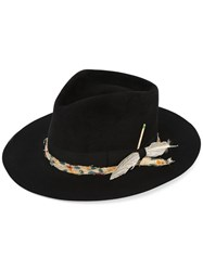 Nick Fouquet 'The Belcampo' Hat Women Beaver Fur Feather 58 Black