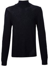 Maison Martin Margiela High Neck Sweater Blue