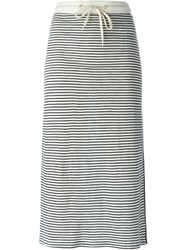 Twin Set Striped Midi Skirt Nude And Neutrals