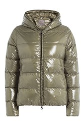 Duvetica Down Jacket With Hood Green