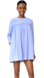 English Factory Smocked Baby Doll Dress Powder Blue