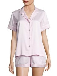 Natori Charm Essentials Short Sleeve Pajama Blush Pink