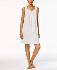 Charter Club Lace Trimmed Printed Nightgown Only At Macy's Grey Dot