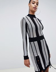 Missguided Striped Bodycon Dress Multi