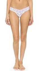 Hanky Panky Petite Signature Lace Low Rise Thong White