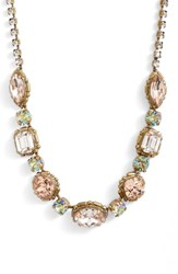 Sorrelli Adorned Multi Cut Crystal Necklace Beige