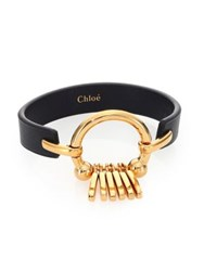 Chloe Marin Fringe Leather Bracelet