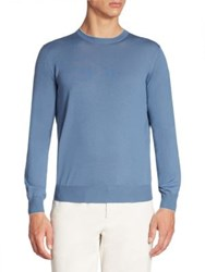 Brunello Cucinelli Solid Wool And Cashmere Blend Sweater Sky