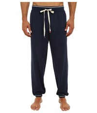 Original Penguin Cuffed French Terry Pant Dress Blue Navy Men's Pajama