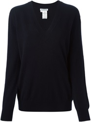 Tomas Maier V Neck Sweater Blue