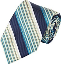 Fairfax Diagonal Striped Necktie Blue