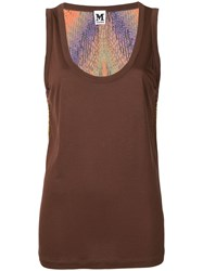 Missoni Vintage Back Printed Tank Top Brown