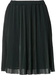 Just Female Pleated Mini Skirt Green