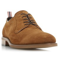 Bertie Pugg Round Toe Suede Derby Shoes Tan