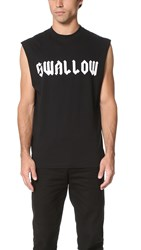 Mcq By Alexander Mcqueen Sleeveless Tee Black Swallow