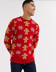 Another Influence Gingerbread Knitted Jumper Red