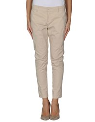 Siviglia Denim Trousers Casual Trousers Women Beige