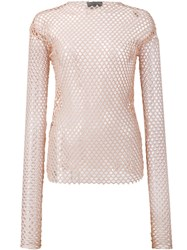 Les Animaux Stretch Mesh Top Nude And Neutrals