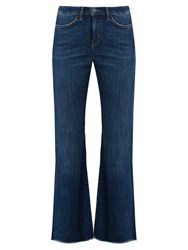 Mih Jeans Lou High Rise Flared Leg Cropped Denim