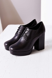Tba To Be Announced Braelyn Leather Lace Up Oxford Black