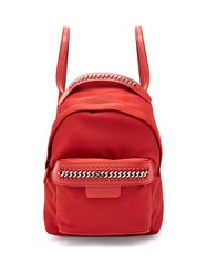 Stella Mccartney Falabella Eco Nylon Backpack Red