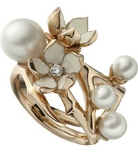 Shaun Leane Cherry Blossom Rose Gold Vermeil White Pearl And Diamond Ring