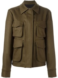 Odeeh Cargo Pocket Jacket Green