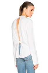 Helmut Lang Back Knot Top In White