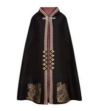 Etro Embroidered Hooded Cape Female Black