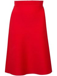 Alexander Wang T By Ribbed Waist Skirt Red