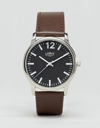 Limit Brown Watch With Black Dial Exclusive To Asos Brown
