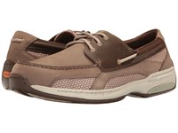 Dunham Captain Taupe Two Tone Men's Slip On Shoes Brown