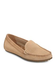 Aerosoles Over Drive Suede Moc Toe Drivers Light Tan