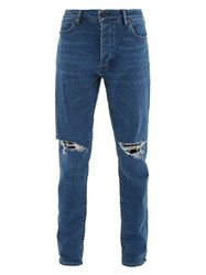 Neuw Ray Cotton Blend Tapered Leg Jeans Blue