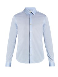 Paul Smith Single Cuff Spread Collar Cotton Shirt Blue